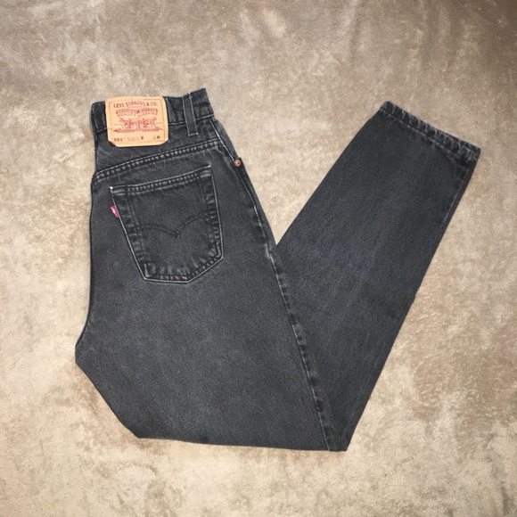 Levi's Denim - Vintage 1990s Levi's 551 black high waisted jeans